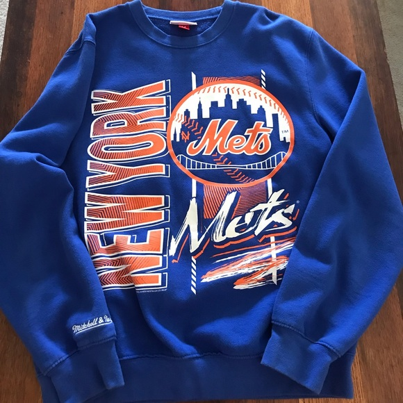 online store b6ae5 d068d Mitchell & Ness New York Mets Crew Neck Sweatshirt
